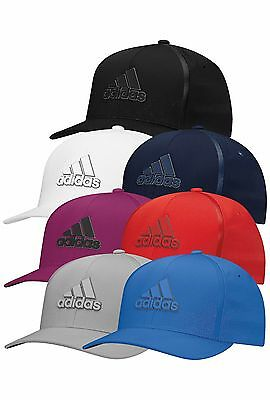 New For 2017 - adidas Golf Men's Tour Delta Textured Golf Cap/Hat - Fitted