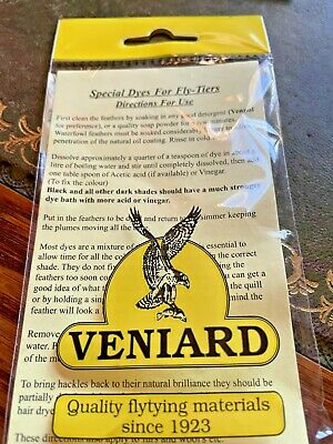 Veniard Special Dye for Fly Tyers Feathers & Furs in 40 Shades Fly Tying Dyes