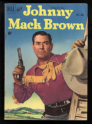 Johnny Mack Brown (1950) #7 1st Print Movie Star Photo Covers Front & Back VG/FN