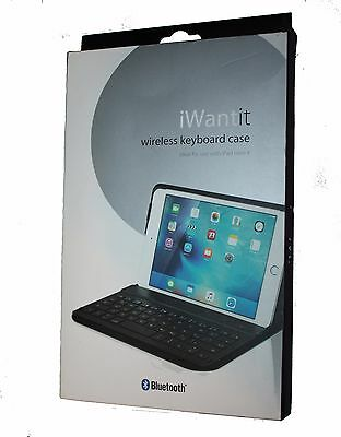iWantit Wireless KEYBOARD With Folio CASE IM4KBCB16 for iPad mini  -Black- UNBOX