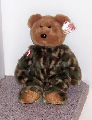 Hero  Camouflage Buddy Buddies Ty  Mint With Mint Tags Collector Quality
