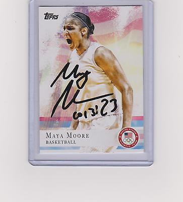 Maya Moore  2012 Autographed Signed Topps Card #60 Uconn Lynx