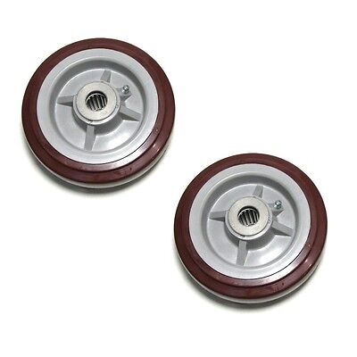 "Set of 2 Polyurethane 6"" x 2"" Caster Wheel with 1/2"" ID Roller Bearing"