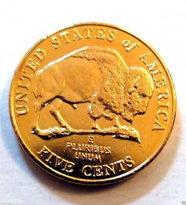 US Gold Coin Buffalo Nickel New York City United States Man Dallas Retro Old USA
