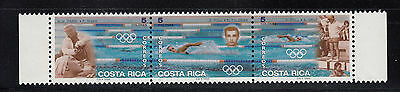 Costa Rica 1996 Swimming Olympics Sc491  complete mint never hinged
