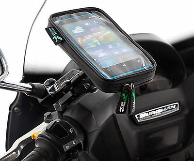 Scooter 8-10mm Diameter V2 Mirror Mount + IPX3 Case for Sony Xperia Z3 Compact