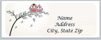 30 Owls Personalized Return Address Labels Buy 3 get 1 free (bo213)