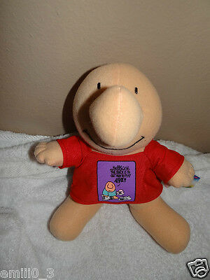 "New With Tags Ziggy And Freinds Comic  10"" Plush Figure Red"