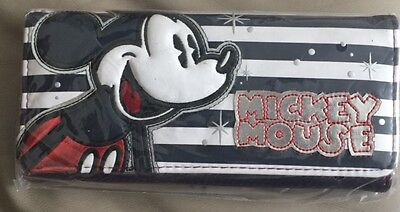 Disney Mickey Striped Wallet Loungefly Licensed New