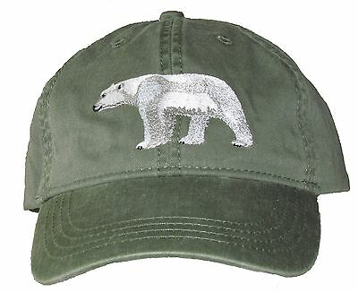 Polar Bear Embroidered Cotton Cap NEW Hat
