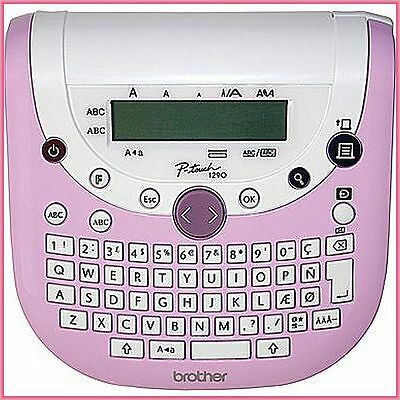Brother P-Touch PT1290SBVP Labeller, Pink - NIB - For Scrapbooking,Work/Projects