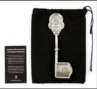 Rare Limited Edition Death Wish Coffee Co. Custom Skeleton Coffee Scoop Pewter