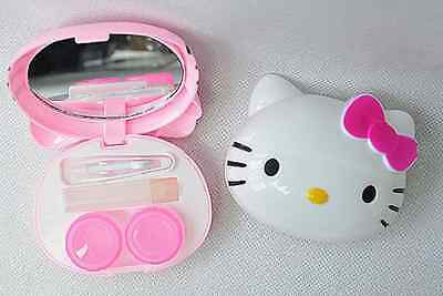 New Cute HelloKitty Design Contact Lens Case Soak Storage Cosmetic Box AA-D27