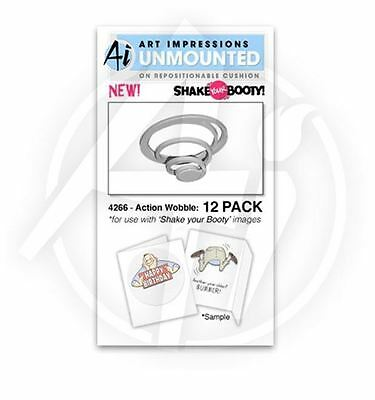 Art Impressions Spiral Adhesive Product ~ ACTION WOBBLE : 12 PACK (3D) -4266