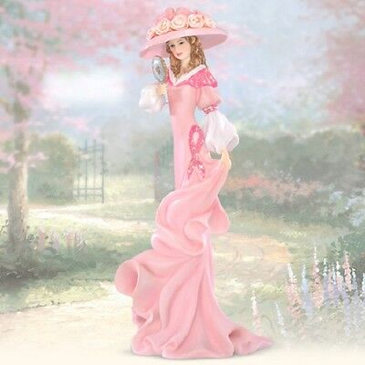 Reflections in Pink Inspirations of Hope Lady Figurine Thomas Kinkade