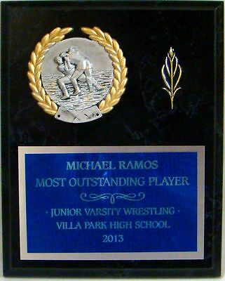 "Wrestling - Coach's / Sponsor Plaque 8"" x 10"" with PM5118"