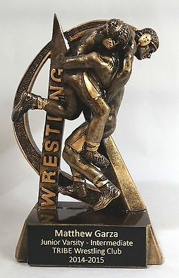 "Wrestling Resin Trophy RF2728 - 6 1/2"" tall - Free Engraving"
