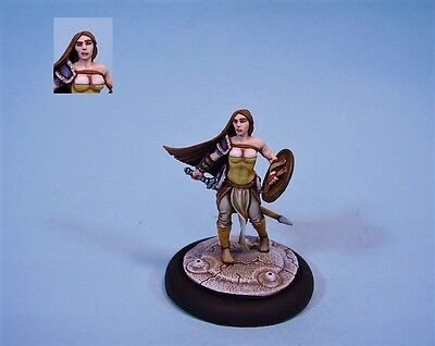 Mierce Minis painted miniature Female Viking (30 day listing)