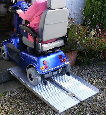 Mobility Scooter Wheelchair Folding Suitcase Ramp 4ft 1.2m Long VAT-Relief Price