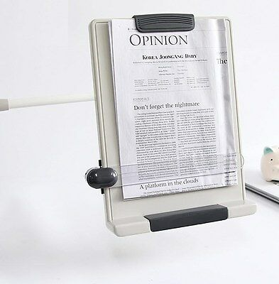 Book Document Reading Stand Flex Arm Book Copy holder Clamp Type BCH-07