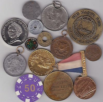 14 Various Commemorative Medals Average Very Fine
