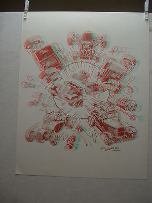 Robert Williams: Car Eruption in 3-D Poster (mit Brille, with glasses) (USA)