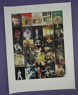 Complete Sheet of 25 Queen Perforated Stamp Stickers 1994