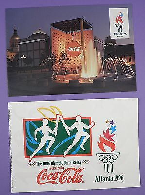 Coca Cola -  Olympics Atlanta USA1996 - Unused Large Postcards