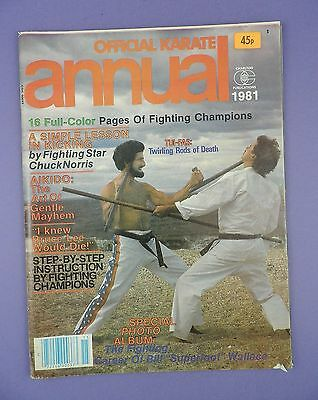 """Official Karate Annual 1981 - incl.  Chuck Norris, Bill """"Superfoot"""" Wallace"""