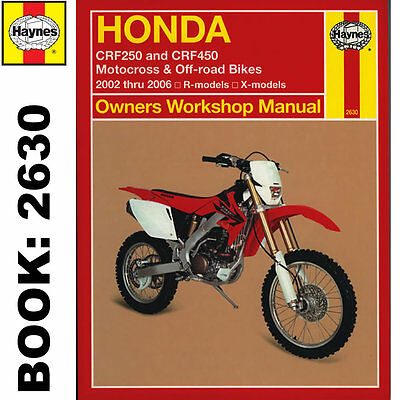 Honda CRF250R CRF250X CRF450R CRF450X 2002-06 Haynes Workshop Manual