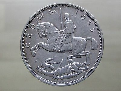 """1935 George V """"Rocking Horse"""" Silver Crown - Nice Coin - FREE POSTAGE (A86)"""