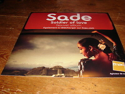 Sade Soldier Of Love!!!!!!!!!!!rare French Promo Advert