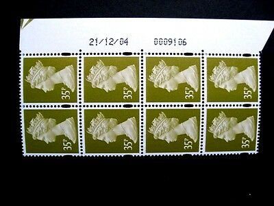 Enschede.35p. Date block of 8.U352.Right.Superb MNH.Unfolded.