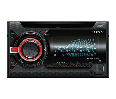 Sony WX-800UI Double DIN CD MP3 Front Aux USB iPhone iPod Car Stereo - REFURB