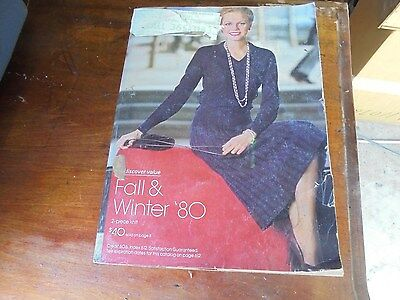 Vintage 1980 Montgomery Ward Fall and Winter  Catalog