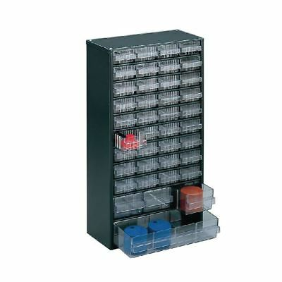 Storage Cabinet Clear 40 Drawer System Dark Grey  324171