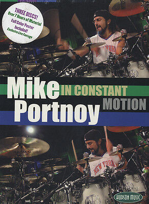 Mike Portnoy In Constant Motion Drum Tuition 3 DVD Set Dream Theater