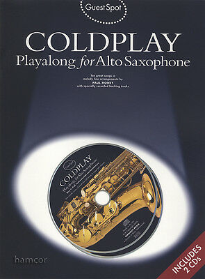 Coldplay Playalong for Alto Saxophone Music Book/2CDs Guest Spot
