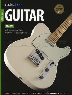 Rockschool Guitar Grade 3 2012-2018 TAB Book & DLC Songs Exercises Tests Exam