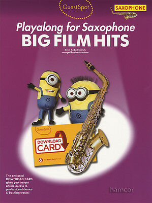 Guest Spot Playalong for Alto Saxophone Big Film Hits Sheet Music Book/DLC