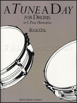 A Tune A Day for Drums Book 1 Sheet Music Book Learn How To Play Drumset