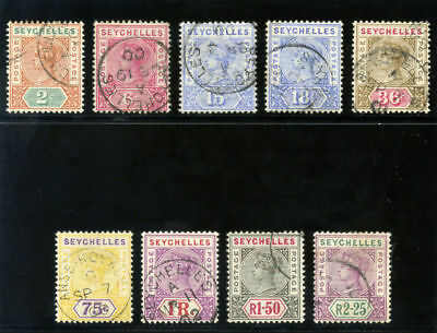 Seychelles 1897 QV set complete very fine used. SG 28-36.