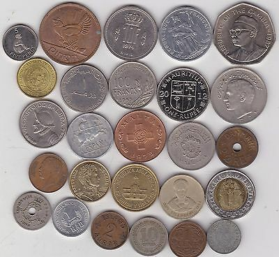 26 Mixed World Coins In Good Fine Or Better Condition