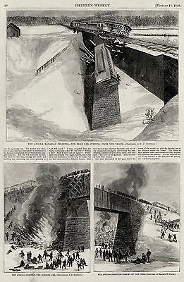 Angola Horror New York Train Railroad Disaster Wreck, Lake Shore Express 1867