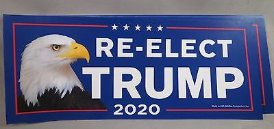 ... LOT OF 10 RE-ELECT TRUMP 2020 FOR PRESIDENT STICKERS Eagle 45th USA