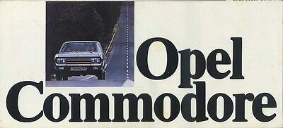 Brochure Depliant Opel Commodore