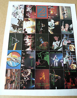 """PINK FLOYD Rock Fantasy Fan Club 7"""" x9"""" Sheet of 25 Promotional Stamps 1994 RARE"""