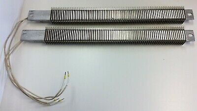 Lot of 2 Watlow SGA1J21AW4 Finned Strip Heaters 240VAC AC 500 Watt Rating