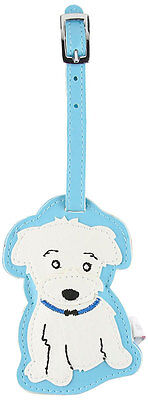 Maltese Dog Luggage Tag Briefcase Gym Backpack Travel ID