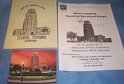 New York Central Railroad Train Station Terminal Buffalo Post Card Advertising